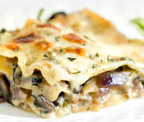 Mushrooms Lasagna