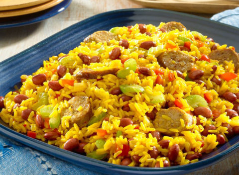 Rice Saffron and Sausages
