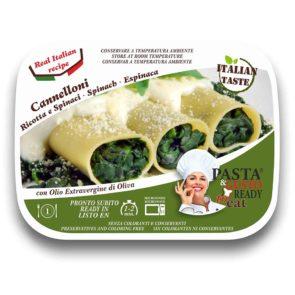 piatti pronti fuori frigo Cannelloni Ricotta e Spinaci