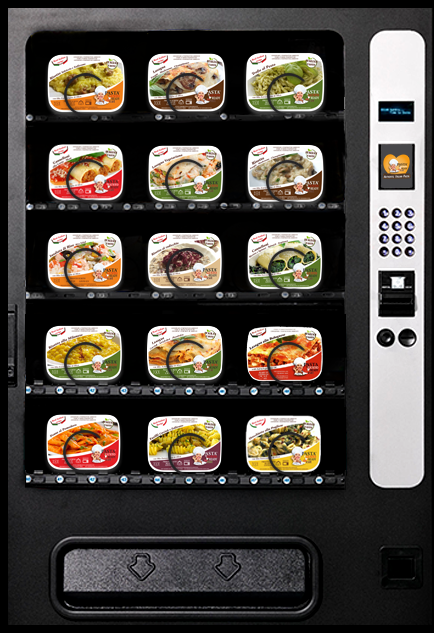 Food Vending Machines Ready Meals Pasta Ready to Eat